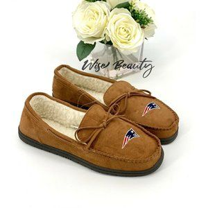 New England Patriots Moccasin Slippers Size 9-10